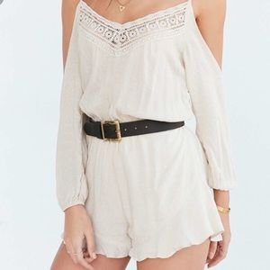 Urban Outfitters cut-out sleeve romper